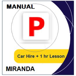 Manual Car Hire & Lesson - Miranda