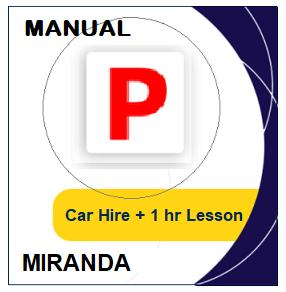 Manual Car Hire & Lesson - Miranda at LicencePlus