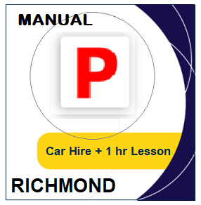 Manual - Driving Test day Packages: Manual Car Hire & Lesson - Richmond at LicencePlus