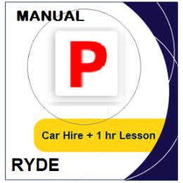 Manual Car Hire & Lesson - Ryde