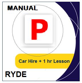 Manual Car Hire & Lesson - Ryde at LicencePlus