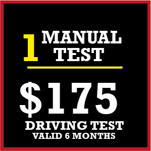 1 x Manual Licence Driving Test $150 + $25 Travelling Allowance at HIENZ Driving School