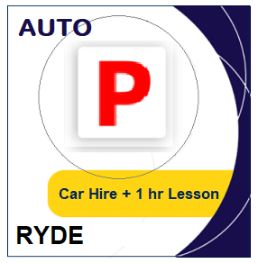 Auto - Driving Test Day Packages: Auto Car Hire & Lesson - Ryde at LicencePlus
