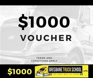 Gift voucher - $1000 at Brisbane Truck School