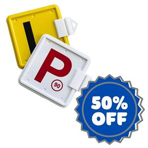 Clip on P Plates at Onroad Driving Education