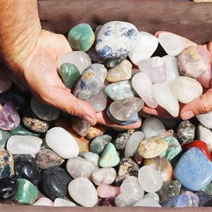 10kg Mixed Gemstones Tumbled Polished at Sun Ancon Machine Australia - New Zealand