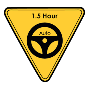 <p>A 1.5 hour standard lesson suitable for drivers of any ability.</p>