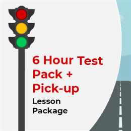 6 Hour Lesson package + Pick-up + Test