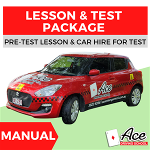 Manual Lesson + Test Package at Ace Driving School