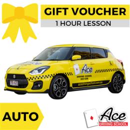 Driving Lesson Gift Voucher 1 Hour - Auto