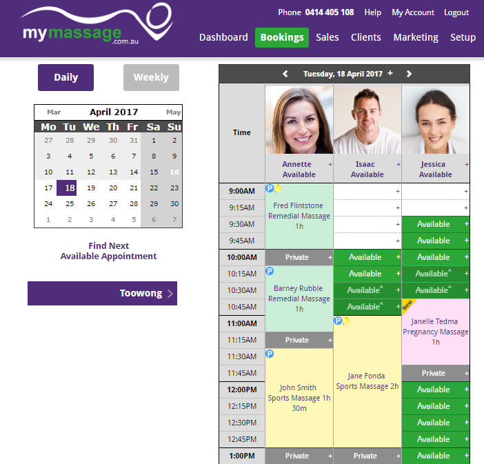 Manage Schedule