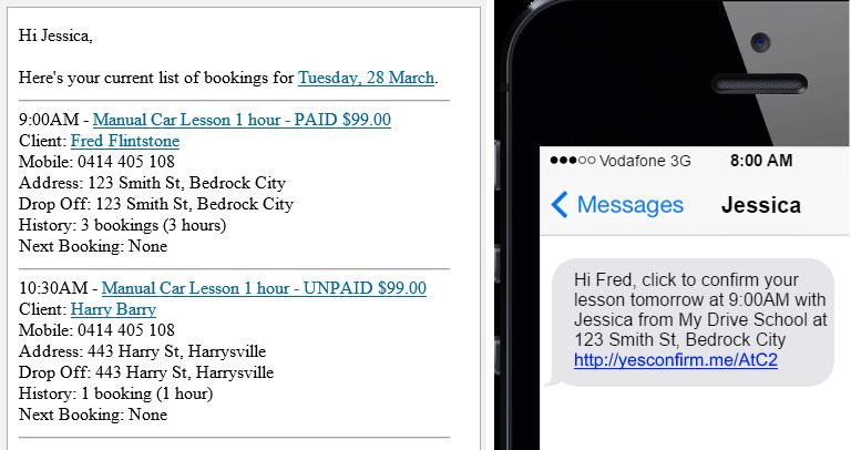 Runsheet & SMS Reminder